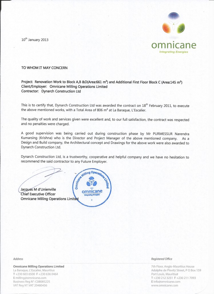 Omnicane Milling Operations Ltd